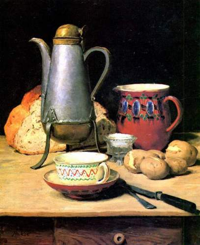 Anker - Still life. Coffee, Milk and potatoes, 1896 [2]